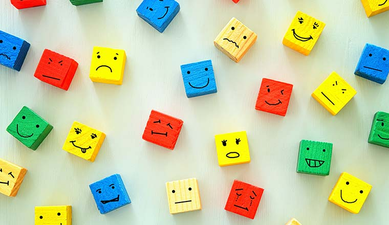 """Blocks have different """"drawn-on"""" emotions"""