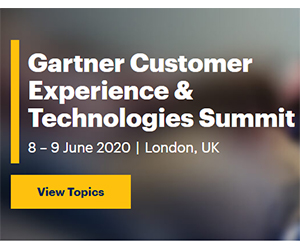 Gartner Customer Experience and Technologies summit in London