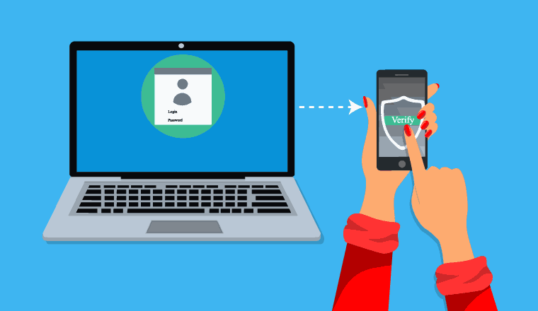 A picture showing how multi-factor authentication works
