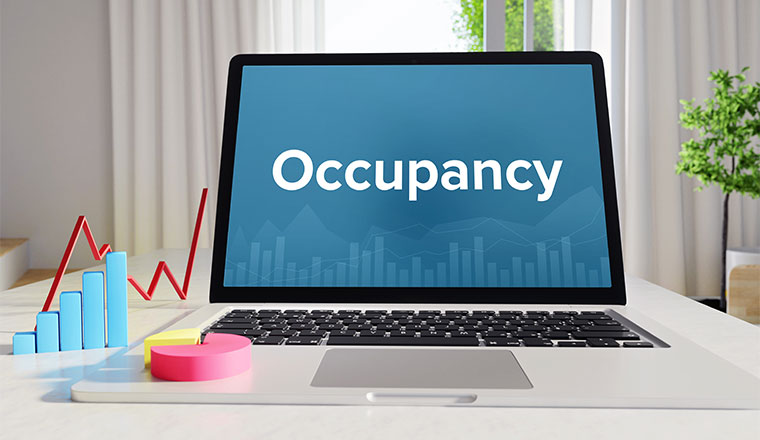 "A photo of the word ""occupancy"" on a computer"