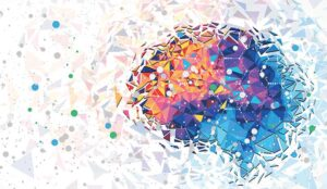An abstract picture of a human brain