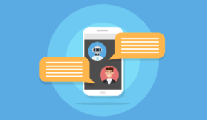 A picture of chatbot messaging