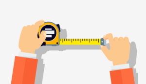 A picture of a measuring tape