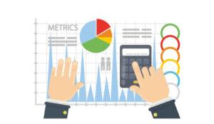 A picture of graphs to display metrics metrics