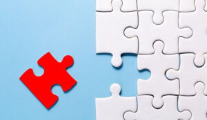 A picture of puzzle pieces