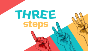 A picture of three steps