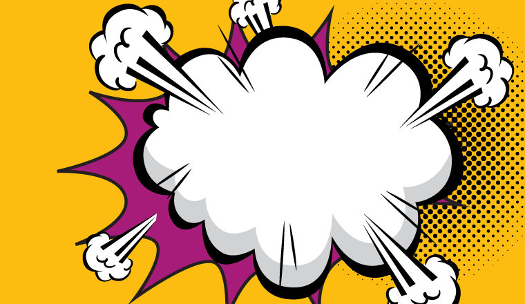 A picture of a cartoon cloud