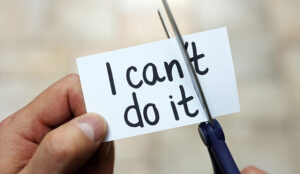 A picture of a note with the words I can do it