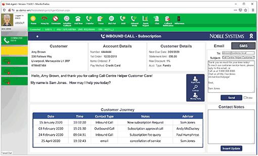An example of an agent desktop
