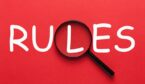 """A picture of the word """"rules"""" on a red background"""