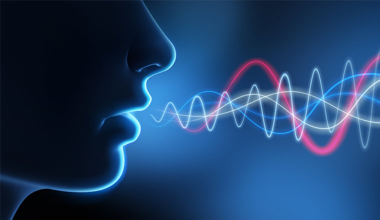 A picture of voice sound waves