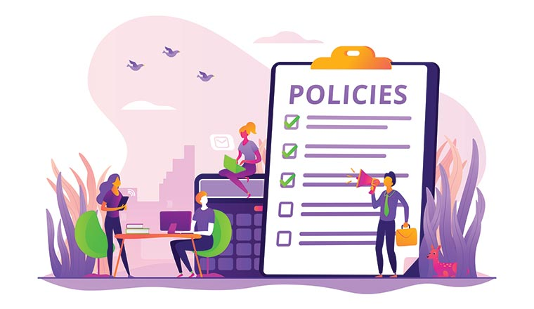 A picture of a policy for agents