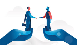 A picture of two people shaking hands