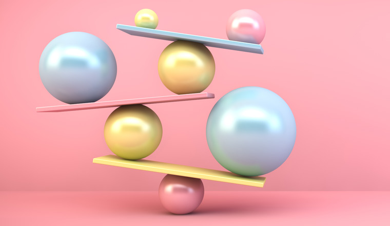 A picture of balancing balls