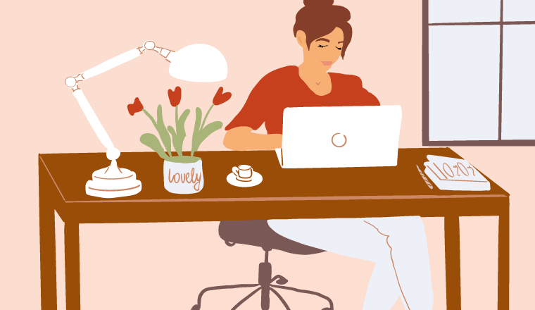 A picture of a remote worker