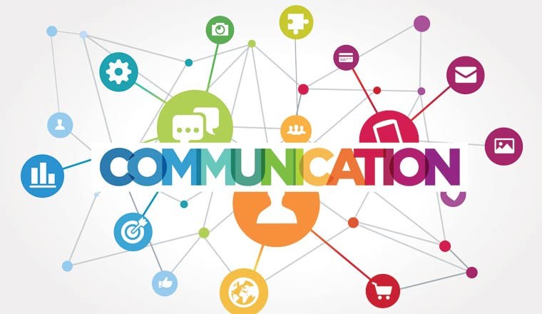 A picture of a communication icons