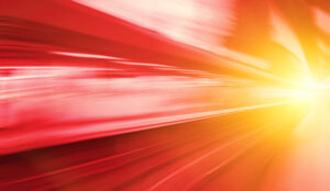 A picture showing something moving at a fast sped
