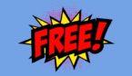 """A picture of """"free!"""" pop art"""