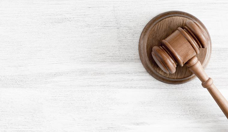 A photo of a judge's gavel