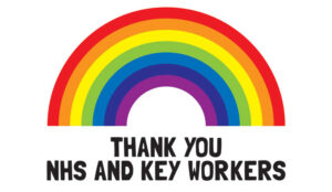 A picture of a rainbow for keyworkers