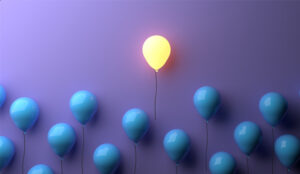 A picture of a glowing balloon