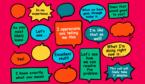A picture of positive speech bubbles