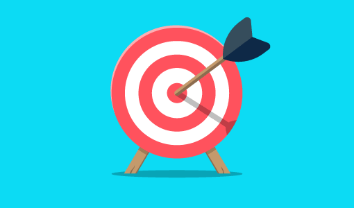 A picture of an archery target