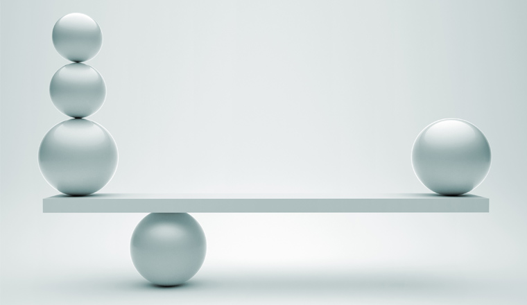 A picture of balance balls