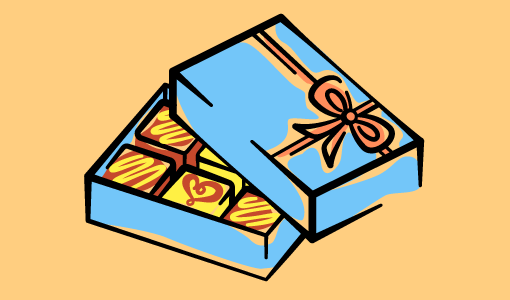 A picture of a box of chocolates
