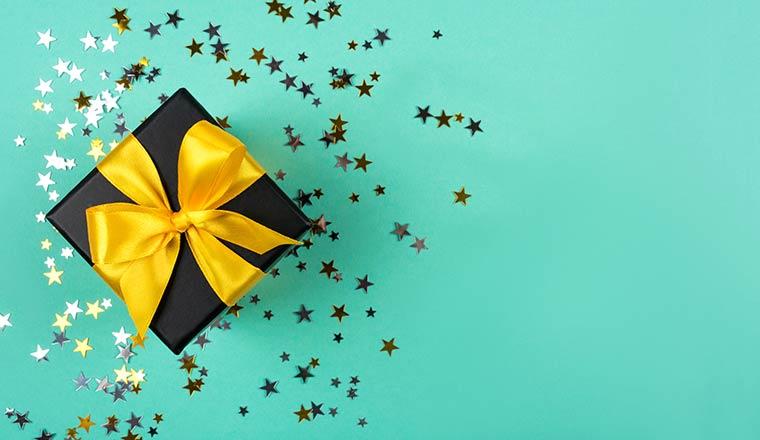 A picture of a present reward