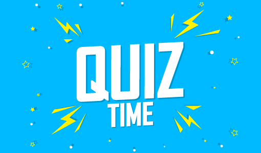 A picture of a quiz time poster
