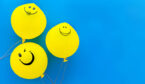 A photo of a smiling balloons