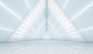 A picture of an abrstarct tunnel representing the future
