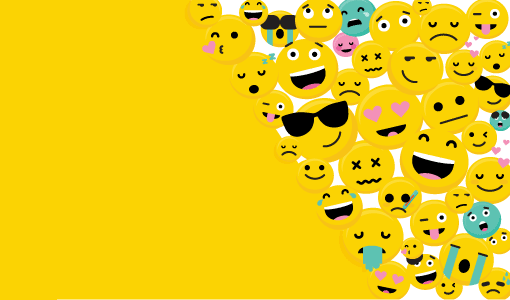A picture of emojis