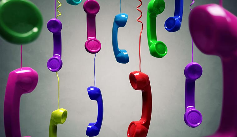 A picture of lots of telephones