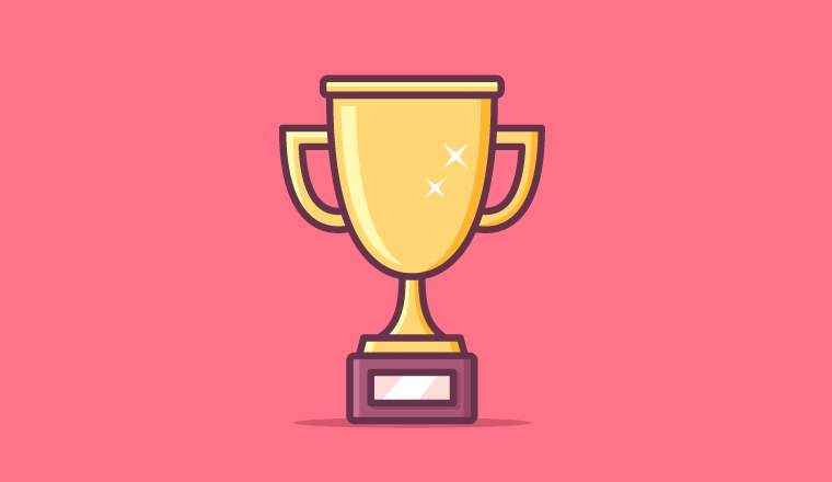 A picture of a trophy award