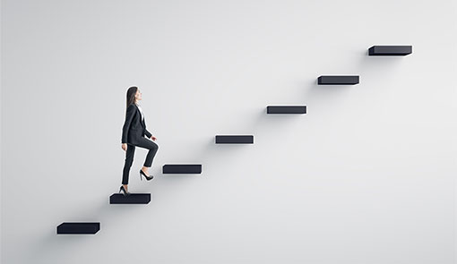 A picture of steps representing career progression
