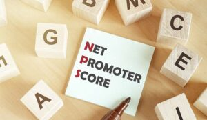 """A picture of a note saying """"Net Promoter Score"""""""