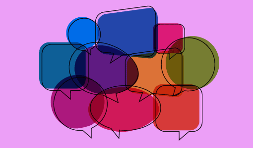 A picture of a cluster of speech bubbles