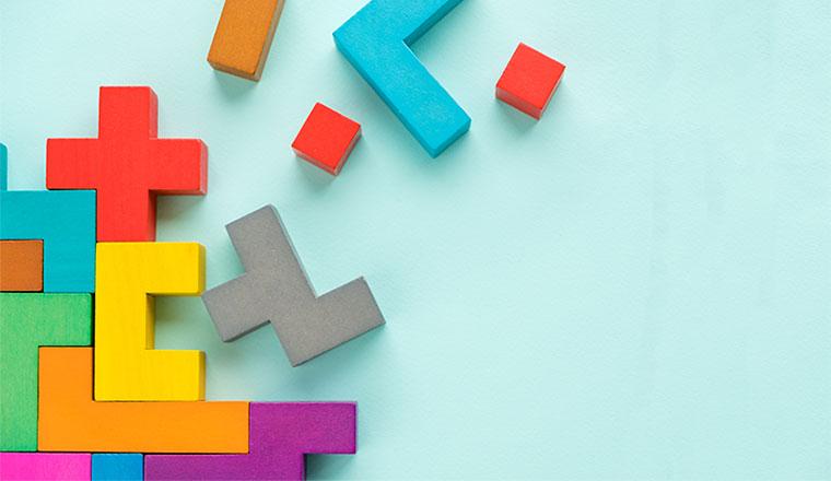 A picture of integrating tetris blocks