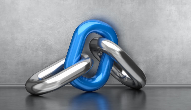 A picture of a chain connection