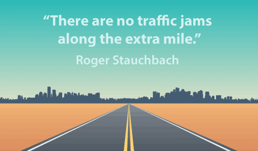 A picture of a Roger Stauchbach quote