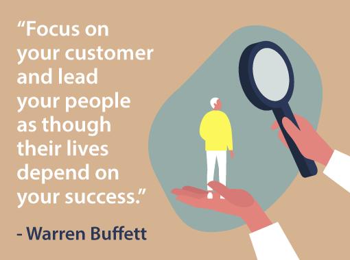 A picture of a Warren Buffett quote