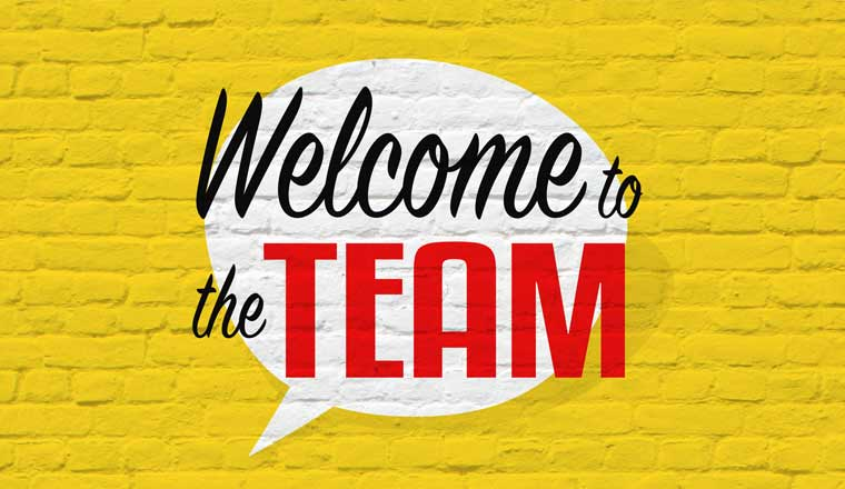 A picture of the words Welcome to the Team