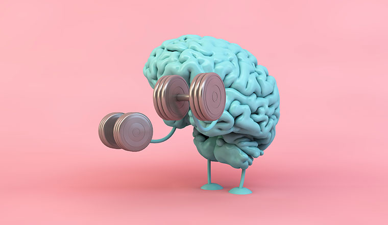 A picture of a brain working out