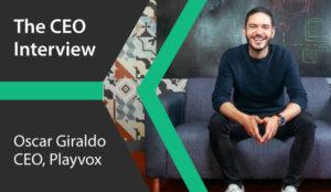 A photo of Oscar Giraldo, CEO of Playvox