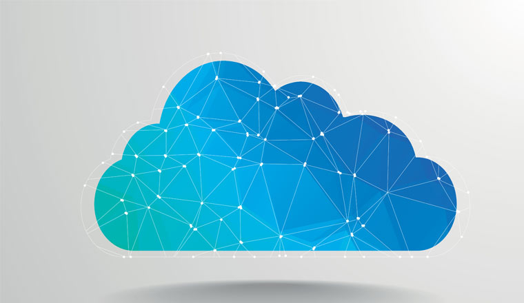 A picture of a digital cloud