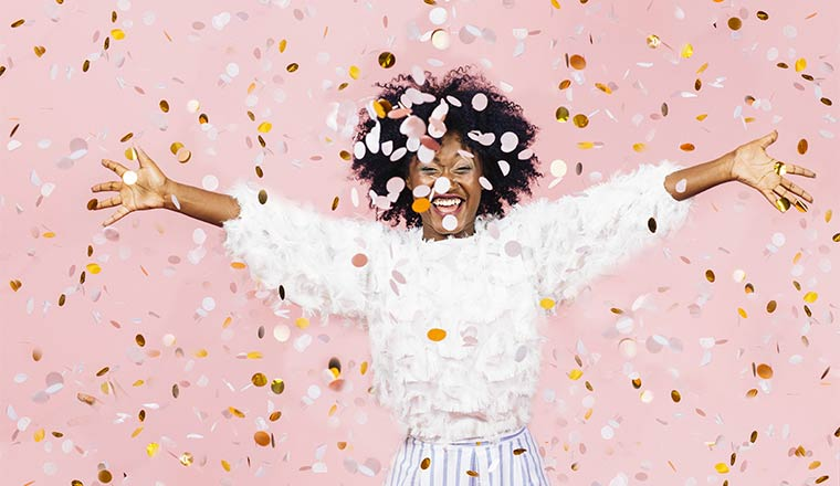 A photo of someone celebrating