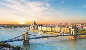 A photo of the Budapest skyline