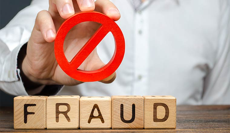 A photo signifying fraud prevention
